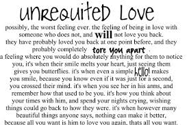 Hopeless unrequited love